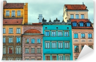 HDR image of old Warsaw houses Vinyl Wall Mural