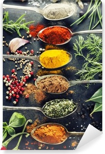 Herbs and spices selection Vinyl Wall Mural