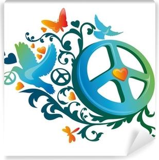 hippie peace symbol Vinyl Wall Mural