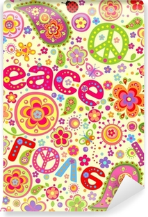 Hippie wallpaper Vinyl Wall Mural