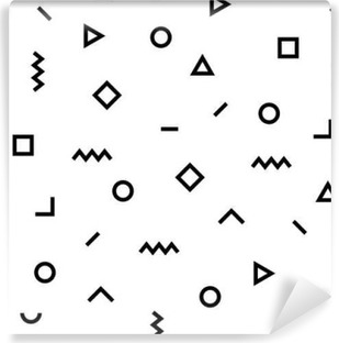 Hipster memphis pattern with geometric shapes Vinyl Wall Mural