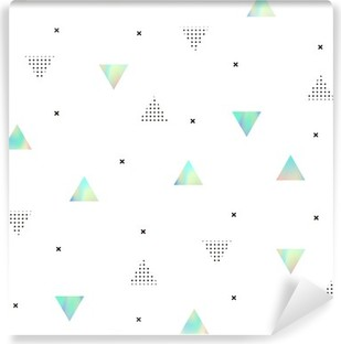 Hipster pattern with triangles texture hologram Vinyl Wall Mural