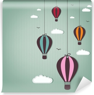 hot air balloons Vinyl Wall Mural