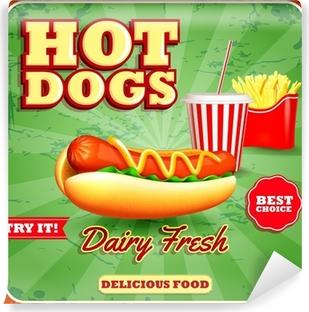 hot dogs dairy fresh Vinyl Wall Mural