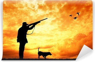 hunter at sunset Vinyl Wall Mural