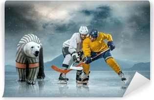 Hockey Wall Murals Taste the sport emotions Pixers