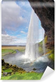 Iceland waterfall - Seljalandsfoss Vinyl Wall Mural