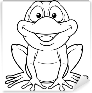 illustration of Cartoon frog - Coloring book Wall Decal • Pixers ...