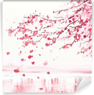 Japanese cherry tree Vinyl Wall Mural