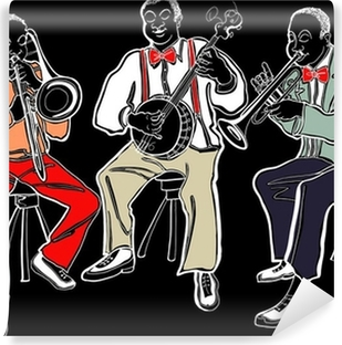 Jazz band Vinyl Wall Mural