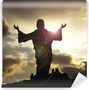jesus arms raised 1 Vinyl Wall Mural