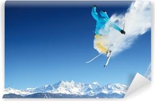 Jumping skier Vinyl Wall Mural