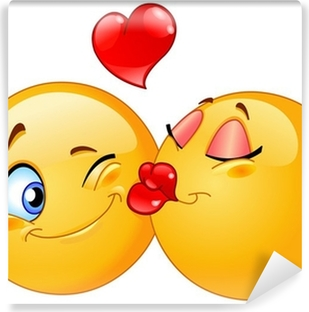 Kissing Emoticons Wall Mural Pixers We Live To Change