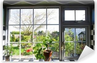 View Through Window Wall Murals Pixers