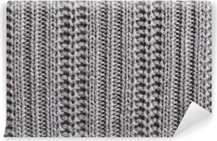 Knitting wool close up texture Vinyl Wall Mural