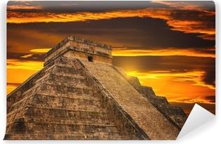 Kukulkan Pyramid in Chichen Itza Site Vinyl Wall Mural