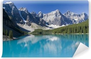 Lake Moraine in Banff National Park Vinyl Wall Mural