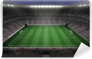 Large football stadium with lights Vinyl Wall Mural