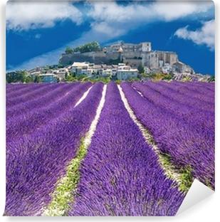 Lavande en Provence, village provençal en France Vinyl Wall Mural