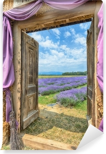 Lavender in Provence, HDR Vinyl Wall Mural
