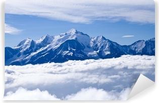 Le Mont blanc par de là les nuages Vinyl Wall Mural