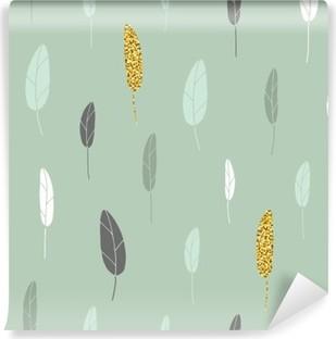 Leaf pattern. Vinyl Wall Mural