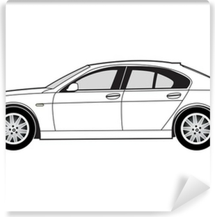 Line art - saloon car Vinyl Wall Mural