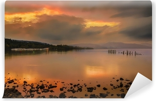 Loch Lomond Jetty And Mountains At Sunset Canvas Print Pixers We Live To Change