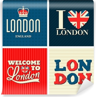 London Cards Collection Vinyl Wall Mural