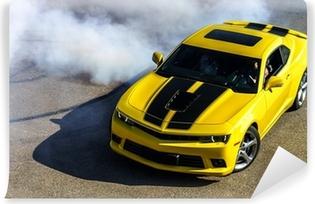 Luxury yellow sport car Vinyl Wall Mural