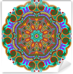 mandala, circle decorative spiritual indian symbol of lotus Vinyl Wall Mural