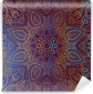 Mandala. Indian decorative pattern. Vinyl Wall Mural