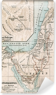 Map of Sinai Peninsula  The Bible  Germany, 1895 Canvas