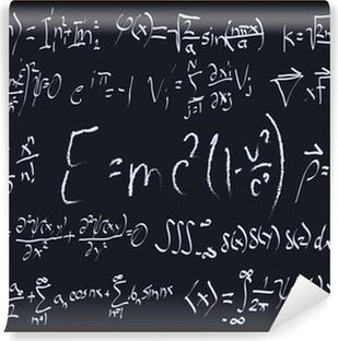 Mathematical Chalkboard Designs Vinyl Wall Mural