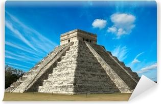 Mayan pyramid in Chichen-Itza, Mexico Vinyl Wall Mural