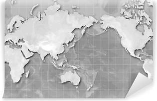 Mercator world map americas centered wall mural pixers we mercator world map japan centred vinyl wall mural publicscrutiny Choice Image