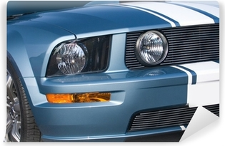 Metallic blue modern American muscle car Vinyl Wall Mural