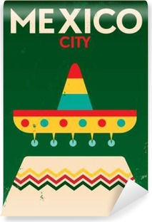 Mexico Vintage Poster Design Vinyl Wall Mural