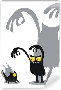 Monster and cat Vinyl Wall Mural