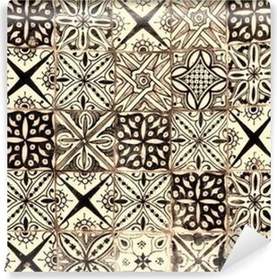 moroccan vintage tile background Vinyl Wall Mural
