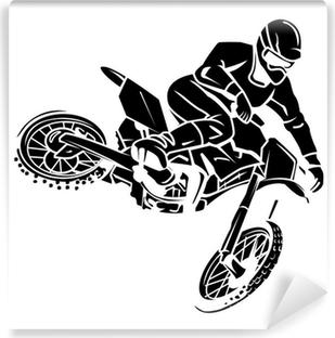 Moto cross rider Vinyl Wall Mural