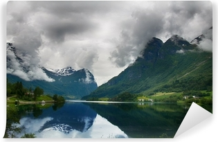 Mountain lake in Norway Vinyl Wall Mural