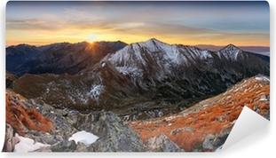Mountain sunset panorama in West Tatras Vinyl Wall Mural