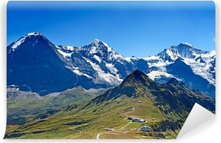 Mounts Eiger, Moench and Jungfrau Vinyl Wall Mural