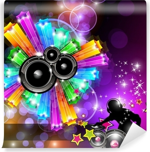Music Disco Flyer for Dancing Events Vinyl Wall Mural