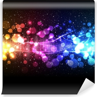 music equalizer wave Vinyl Wall Mural