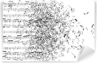 music notes dancing away Vinyl Wall Mural