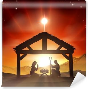 Nativity Christian Christmas Scene Vinyl Wall Mural