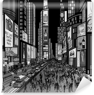 New York - night view of times square Vinyl Wall Mural