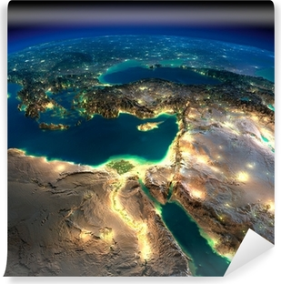 Night Earth. Africa and Middle East Vinyl Wall Mural